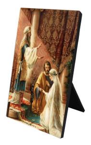 Wedding of Joseph & Mary Vertical Desk Plaque