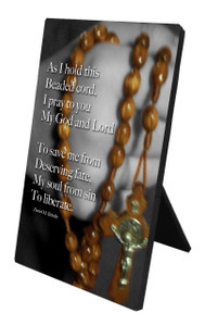 Beaded Cord Vertical Desk Plaque