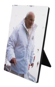 St. John Paul II Pope on the Slope Vertical Desk Plaque