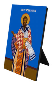 St. Athanasius Vertical Desk Plaque