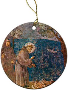 St. Francis with Birds Ornament