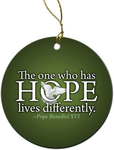 Hope Quote Ornament