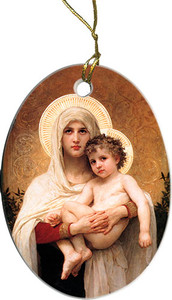 Madonna of the Roses II Ornament