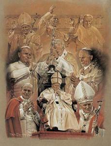 Pope John Paul II Collage Poster