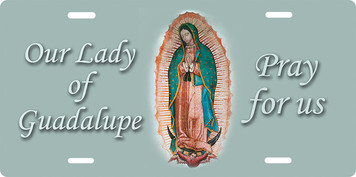 Our Lady of Guadalupe License Plate