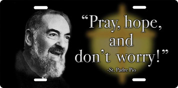 St. Padre Pio License Plate