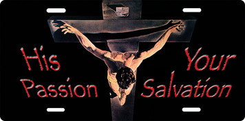 His Passion, Your Salvation License Plate