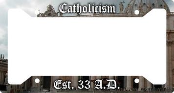 Catholicism Plate Frame