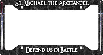 St. Michael Defend Us Plate Frame
