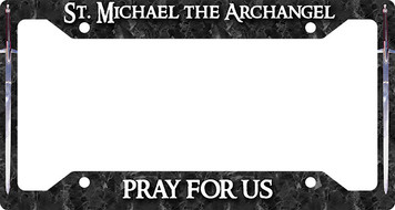 St. Michael Pray For Us Plate Frame