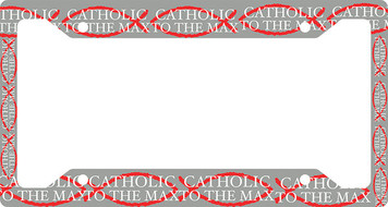 Catholic to the Max Plate Frame