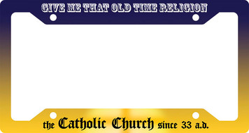 Old Time Religion Blue Plate Frame