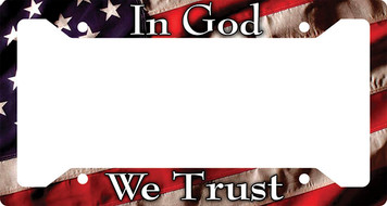 In God We Trust Plate Frame