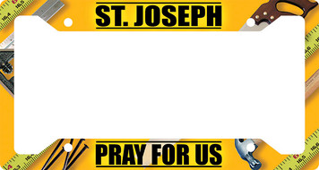 St. Joseph Pray for Us Plate Frame