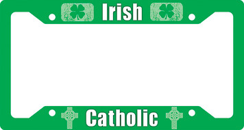 Irish Catholic Plate Frame