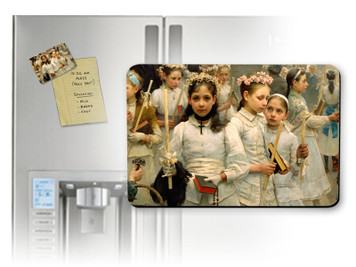 After the First Holy Communion (Detail 3 Girls) Magnet