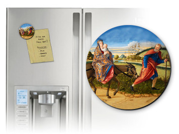Flight into Egypt Round Magnet