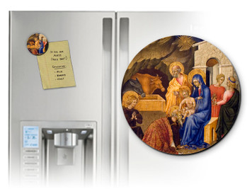 Adoration of the Three Magi Round Magnet