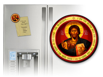 Christ the Teacher Round Magnet