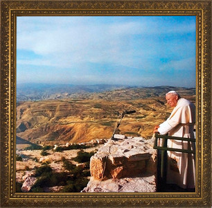 Pope John Paul II on Mount Sinai Framed Art