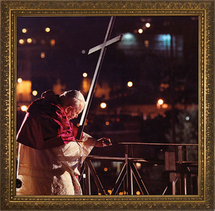 Pope John Paul II Via Crucis Framed Art