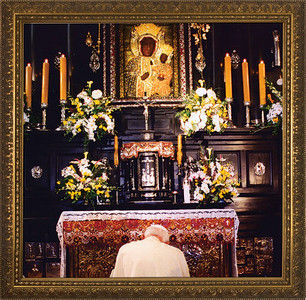 Pope John Paul II in Czestochowa Framed Art