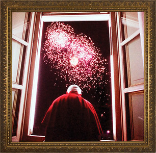 Pope John Paul II New Years 2000 Framed Art