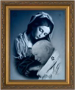 St. John Paul II and Mary Framed Art