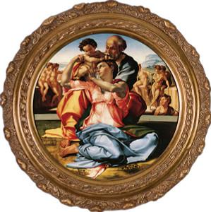 Holy Family by Michaelangelo Framed Art