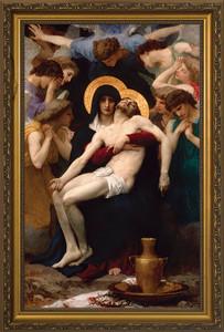 La Pieta - Standard Gold Framed Art