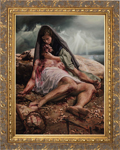 Pieta by Jason Jenicke Framed Art