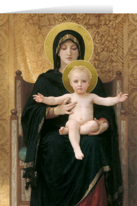 Virgin and Child Greeting Card