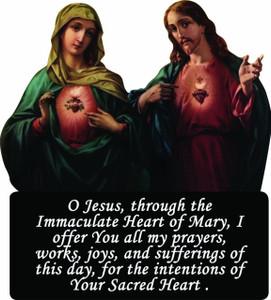 Immaculate & Sacred Heart Visor Clip