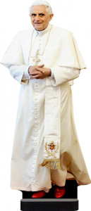 Benedict XVI in White Standee