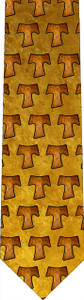 Tau Cross Pattern Tie
