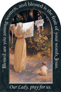 Polish Madonna Prayer Arched Magnet