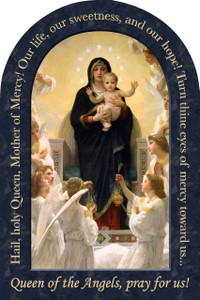 Queen of the Angels Prayer Arched Magnet