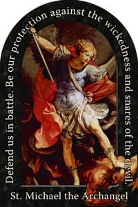 St. Michael the Archangel Prayer Arched Magnet