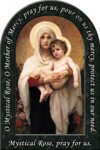 Madonna of the Roses Prayer Arched Magnet