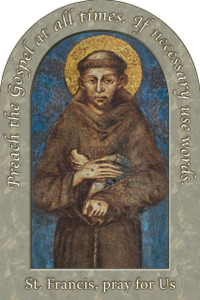 St. Francis of Assisi Prayer Arched Magnet II