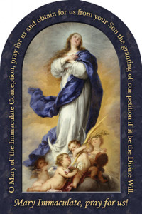 Immaculate Conception Prayer Arched Magnet