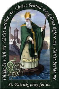 St. Patrick Prayer Arched Magnet