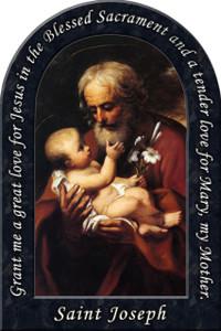 St. Joseph (Older) Prayer Arched Magnet