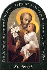 St. Joseph (Younger) Prayer Arched Magnet
