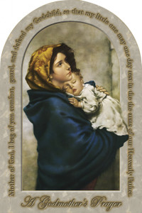 Madonna of the Streets Godmother's Prayer Arched Magnet
