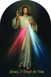 Divine Mercy Jesus I Trust in You Arched Magnet