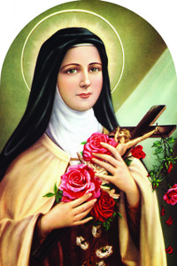 St. Therese of Lisieux Arched Magnet
