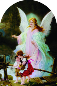 Guardian Angel Arched Magnet II