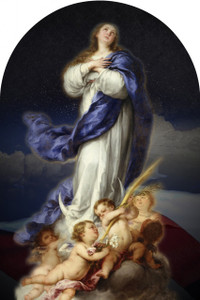 Immaculate Conception USA Arched Magnet
