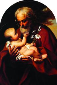 St. Joseph (Older) Arched Magnet